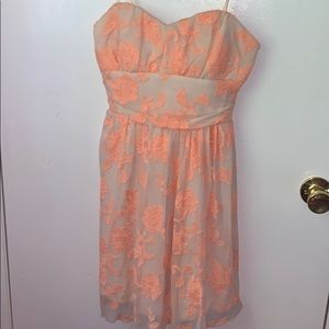 Delias Peach and Nude Floral Dress